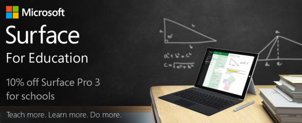 Microsoft Surface Pro 3 Discount for Education