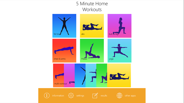 5 Minute Home Workouts App for Windows 10