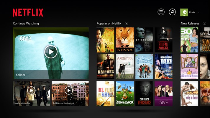 Netflix App for Windows 10