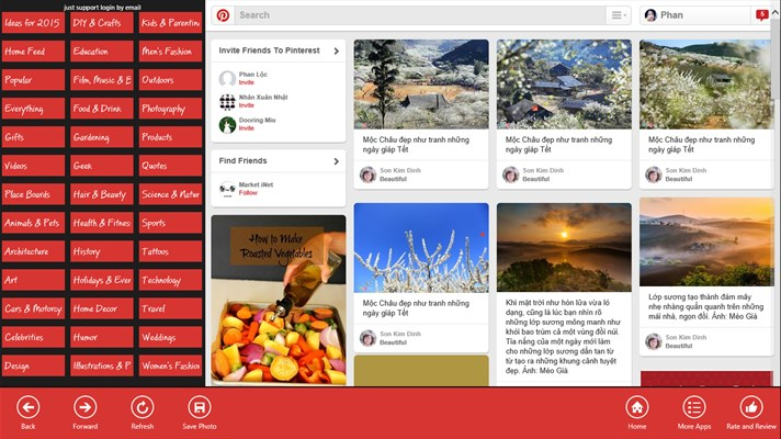 Pinterest Explorer App for Windows 10