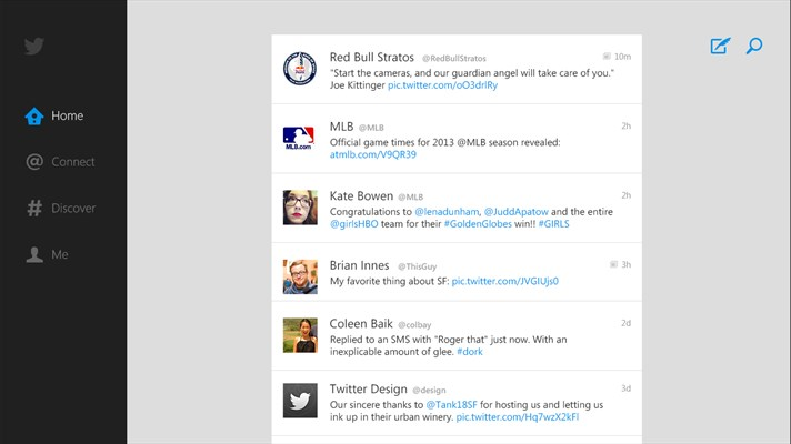 Twitter App for Windows 10