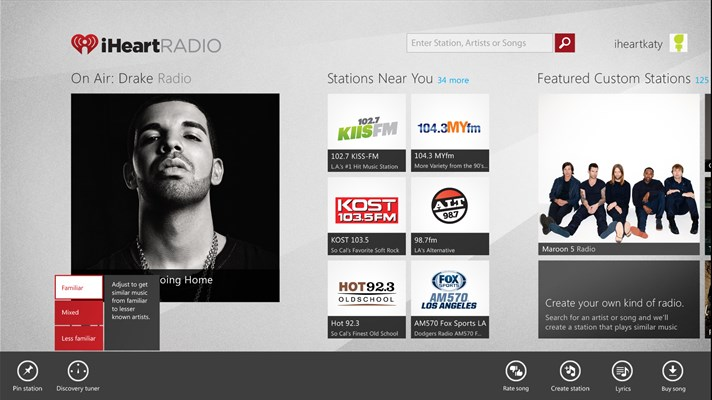 iHeartRadio App for Windows 10