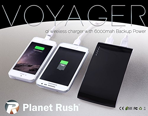 Voyager 3 in 1 QI Cell Phone Wireless Charging Station - Portable Power Bank - B01701QEMO b